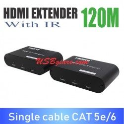 HDMI extender 120M có IR single cable CAT 5e/6 HY-120