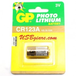 Pin CR123A 123 DL123A 3V Lithium GP