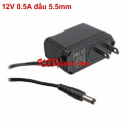 Adapter 12V 0.5A đầu 5.5mm