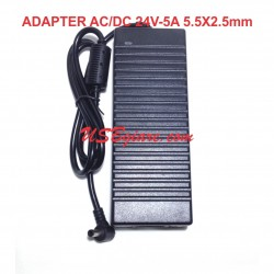 Adapter AC/DC 24V 5A đầu 5.5mm x 2.5mm LJH-138