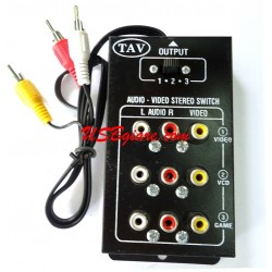 Bộ gộp AV 3 vào 1 ra - 3 in 1 out Av Rca Audio Video Switch box