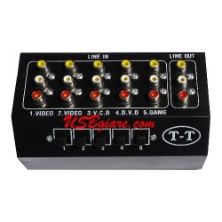 BỘ GỘP AV 5 VÀO 1 RA - 5 IN 1 OUT AV RCA AUDIO VIDEO SWITCH BOX