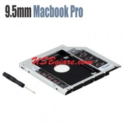 2Hd HDD SDD sata Caddy Bay 9.5mm cho Macbook Pro