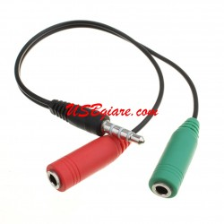 Cáp chia Microphone & Headphone ra 1 jack 3.5mm C04
