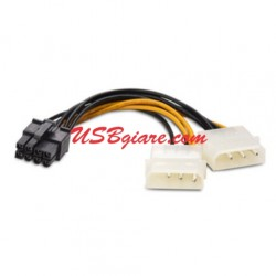 Cáp nguồn ATX 8 Pin ra 2 Molex 4 Pin - 8Pin female to 2 4Pin Molex male