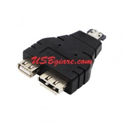 Đầu chuyển eSATA (power) male to USB 2.0 + eSATA female Adapter