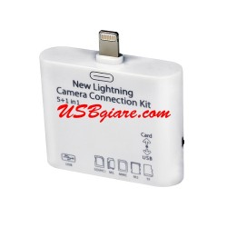 ĐẦU ĐỌC THẺ CHO IPAD 4 IPAD MINI - NEW LIGHTNING CAMERA CONNECTION KIT 5 IN 1