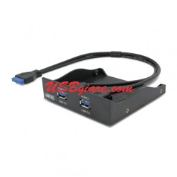 Front Panel Braket 20Pin to 2 USB 3.0 Type A (Female) UNITEK Y-3901