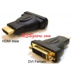 HDMI MALE TO DVI 24+5 ADAPTOR JACK