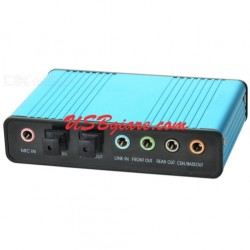 USB sound Card Fiber Optical SPDIF 6 kênh 5.1 Fron Rear Cen-Bass cho PC Laptop