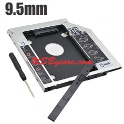 Caddy Bay SATA 9.5mm SATA 3 adapter gắn thêm SSD HDD cho Laptop
