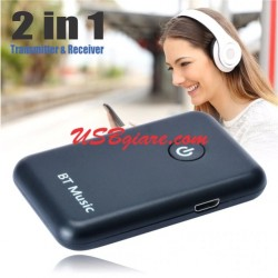 Bluetooth 2 in 1 Transmitter và Receiver (pin sạc) BT-010