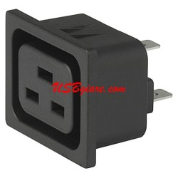 Đầu UPS IEC 60320 C19 16A Snap-in panel mount outlet connector
