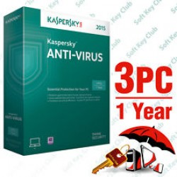 Kaspersky Antivirus 3PC / 1Year (KEY)
