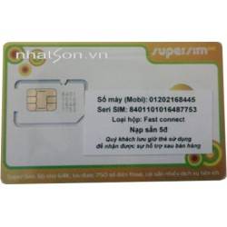 Supper sim 3G mobifone