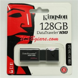 USB 3.0 128GB Kingston DT100G3 Data Traveler