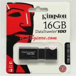 USB 3.0 16GB Kingston DT100G3 Data Traveler