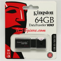 USB 3.0 64GB Kingston DT100G3 DataTraveler